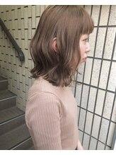 ヴィークス ヘア(vicus hair)秋髪「セピアベージュ×切りっぱなしロブ」by 田渕 英和