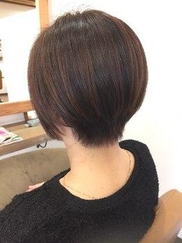 アモヘアー 城山店(amo hair)の写真/【城山/ザビッグ近く】染めながら【頭皮ケア+ヘアケア】!頻繁に染めるからこそ、こだわりたい方は必見!