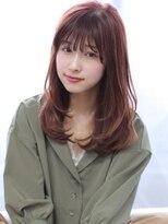 ヘアリゾート バレンタイン(hair+resort valentine)小顔レイヤーワンカール【valentine亀井】