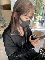 ヘアー アイス ルーチェ(HAIR ICI LUCE)ブリーチ☆ミルクティーベージュカラー ベージュカラー 担当城倉