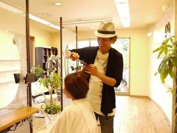 リングアリング(Ring a Ring)の写真/【カット+炭酸スパ¥4400】オーナーが担当!髪の悩みを相談したら、まずはカットで腕だめし♪