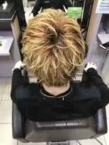 金髪束感style