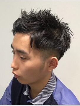 トコヤ ニュースタンダード オブ メンズヘアサロン(tokoya)バングアップショートスタイル