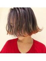 チクロヘアー(Ticro hair)ticrohair大石 ラベンダー+オレンジボブ
