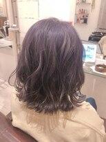リリー ヘアーデザイン(Lilly hair design)【勝田台駅Lilly昼間】透明感たっぷり♪パープルアッシュ