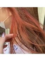 アレッタ ヘア オブジェ(ALETTA HAIR objet)インナーカラー オレンジ ケアブリーチ 【高木美樹】