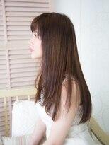 ヘアーサロンウフ(hair salon Oeuf)手触り柔らかストレートスタイル