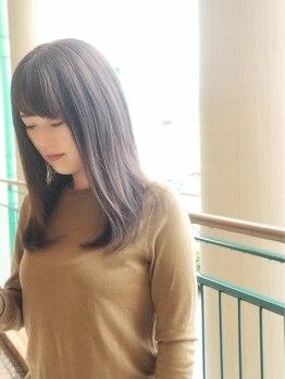 ヘアーデザインロアール(HairDesign LOIRE)の写真/長さは変えずに印象を変える*ハネやすい伸ばしかけのボブ、お手入れが大変なロングも扱いやすく◎