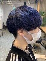 【MITSU】ネイビーブルー×ナチュさらマッシュ