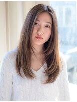 フリンジヘアーサロン(Fringe Hair Salon)レイヤーカット×透け感ベージュ【Fringe染谷正】
