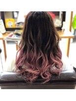Beige pink gradation