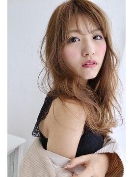 リジェール 黒川店【ドライヴカット】ショコラベージュ×ゆるふわロング