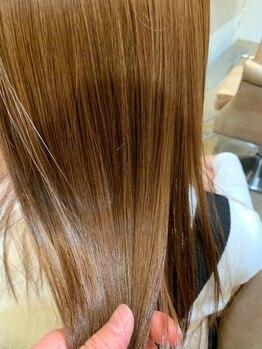 アンドレ ヘア デザイン(Andre Hair Design)の写真/≪ダメージレス縮毛矯正≫クセ毛・ゴワつき・広がりが気になる季節。諦めていた髪質もストンとまとまる♪