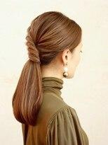 ソース ヘア アトリエ 京橋(Source hair atelier)【source】ストレートアレンジダウンスタイル