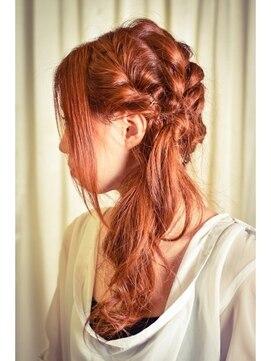 サイドハーフアップヘアアレンジ ウィルゴ VIRGO【VIRGO】すべて計算された演出☆編み込みルーズアレンジ☆