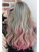 ヘアサロン ブランチ(Hair salon Branch)セピアグレージュ×大胆インナーピンク