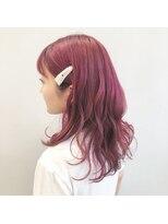 クリアーオブヘアー 一社店(clear OF HAIR)レイヤーロング×ベリーピンク