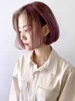 アルバム シンジュク(ALBUM SHINJUKU)ピンクアッシュ&バングアッシュ_オリーブカラー_ba307382