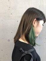 インナーカラー × グリーン