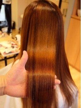 コレットヘア(Colette hair)の写真/【本宮】繰り返せば繰り返す程に髪質が良くなるコレットへアの縮毛矯正。柔らかいナチュラルな仕上がり♪