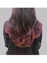 ヴィサージュファイン(VISAGE fine)<ロングレイヤー>バイオレット×ピンクの裾カラー