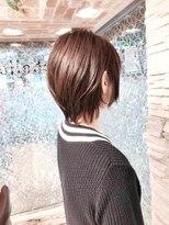 ミッシェル 目黒品川店(Michelle by afloat)20代30代40代50代小顔ひし形くびれソフトウルフショートレイヤー