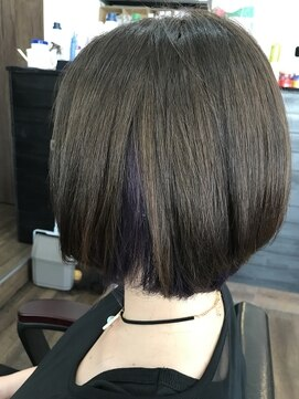リル 阪神尼崎(LiL')LiL'デザインカラー☆バイオレットアッシュショートヘア