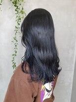 テトヘアー(teto hair)ネイビー ブルーブラック 韓国ヘア 韓国スタイル グレー