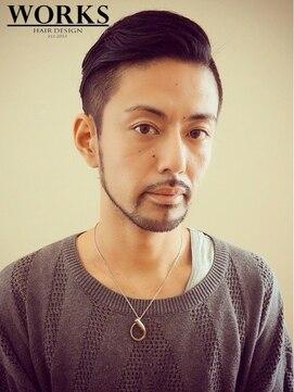 ワークス ヘアデザイン(WORKS HAIR DESIGN)メンズ刈り上げオールバックヘアー