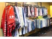 レンタル着物夢美人の雰囲気(約200種類のお着物/帯から豊富に選べるのが嬉しい♪)
