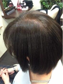 メーヴェ(MOEWE hair make & design ~メーヴェ~)の写真/[カット+カラー¥7260]しみないカラーは当たり前!個々に合わせて薬剤を選定し、しっかりと馴染ませ染める♪