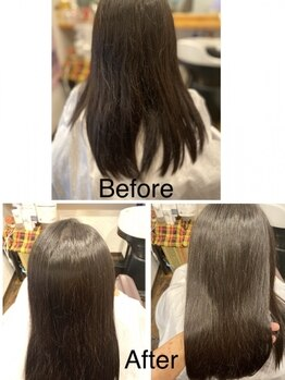 ヘアサロン エルム(hair salon elm)の写真/科学の水とアミノ酸で作る新トリートメント≪s-AQUA≫取り扱い*繰り返す度に柔らかくサラサラな髪質へ―。