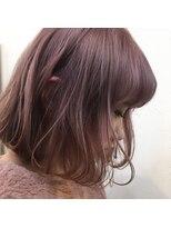 【ケアブリーチ】で作るペールトーンのピンクバイオレット