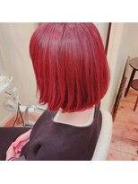【Aile Hair】ブリーチなし★伸ばしかけ★レッド系