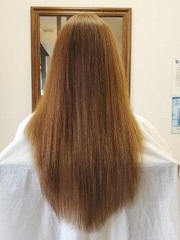 ヘアーデザイン ソルーナ(Hair Design SOL una)の写真/【自然な仕上がり×毛先まで柔らかい質感に感動*】ダメージを極限まで抑えて素髪から美しいストレートへ。