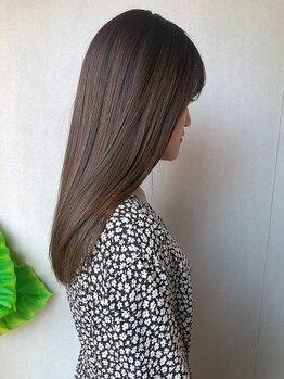 フーコー 一枝店(fuhcoh)の写真/〈戸畑〉髪質・くせ毛を見極め薬剤選定『美容液ストレート』髪本来の直毛に近づけ、自然なストレートに♪