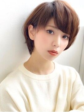 アグ ヘアー ジゼル 花巻店(Agu hair gisele)《Agu hair》大人かわいい小顔マッシュショート
