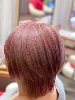 ヘアーメイク リボーン ムーヴ(hair make re:bbon move)ダブルカラー×ペールピンク