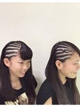 ヘアーアンドハート ベルフェーム 湘南台店(Hair&Heart BelleFemme)コーンロウ
