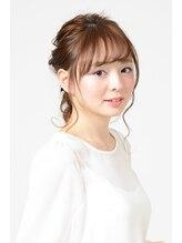 アース コアフュールボーテ 長野稲田店(EARTH coiffure beaute)編みおろしロングダウンスタイル