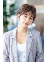 小顔カット/髪質改善/丸みショート/イルミナカラー