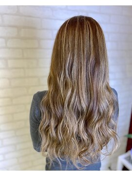 ビス ヘア アンド ビューティー 西新井店(Vis Hair&Beauty)ナチュラル/ハイライト/ハイトーン/バレイヤージュ/ミルクティー