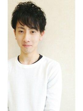 大賀 ヘアビューティ(Oga Hair beauty)さわやか 黒髪 メンズ パーマ