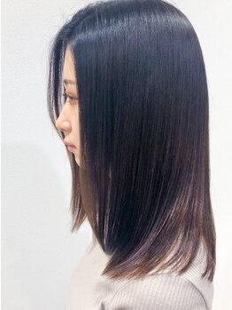 アルジャーノン(algernon)の写真/【尼崎/武庫之荘】クセやパサパサしてまとまらない髪が、乾かしただけでキレイにまとまるストレートに。