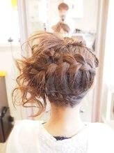 ヘアサロン ハリコット(Hair Salon Haricot)編み込みサイドアレンジ