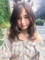 クーエフー(coo et fuu)[表参道]ブランジュカラーと長め前髪のセミロング♪2藤沢