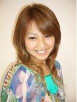 テットアテットノエル(TETE A TETE Noel)ワイドバングでアレンジしやすいモテ系ゆる髪ストレートスタイル