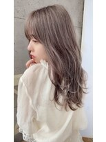 アフロート ルヴア 新宿(AFLOAT RUVUA)大人かわいい柔らかフリンジウェーブ☆#前髪透明ココアブラウン