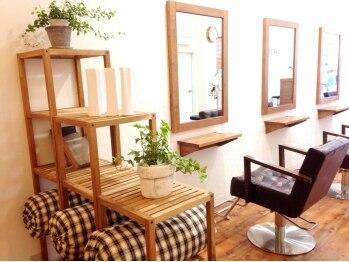 ラフターヘアー(Lafter Hair)の写真/≪完全予約制≫ホッとできるカフェのようなプライベート空間♪スタッフの優しい心遣いも人気♪