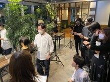 コレット ギンザ(Collet Ginza)の雰囲気(お客様に満足して頂けるように定期的に技術講習を行なっています)